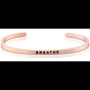 "Mantraband Rose Gold ""Breathe"""